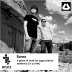 SANEX - 5 years of work for appreciative audience (in da mix)